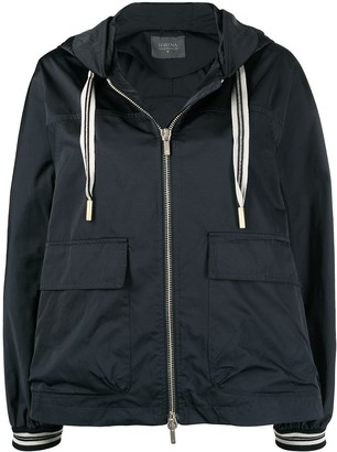 Lorena Antoniazzi Hooded Windbreaker Jacket