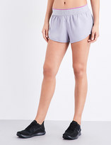 Ivy Park Ladies Cloud Grey Breathable Logo Waistband Shell Shorts