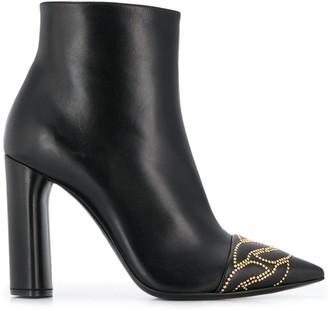 Casadei Stud-Embellished Ankle Boots