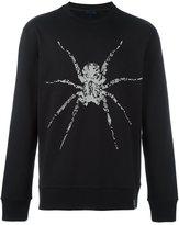 Lanvin sequinned spider sweatshirt - men - Cotton - XXL