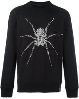Lanvin sequinned spider sweatshirt