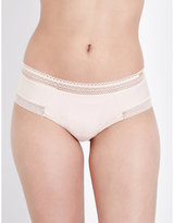 Chantelle Festivité jersey and lace shorty briefs