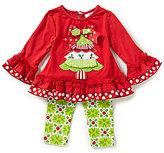 Rare Editions Baby Girls 3-24 Months Christmas Tree Top & Leggings Set