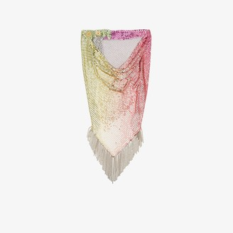 Paco Rabanne Multicoloured Rainbow Mesh Scarf