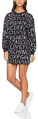 Love Moschino Women's Blackboard Allover Dress,UK (38 EU)