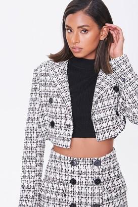 Forever 21 Tweed Cropped Blazer