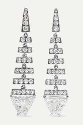 Martin Katz 18-karat White Gold Diamond Earrings - one size