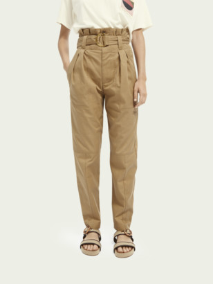 Scotch & Soda Paperbag high-rise cargo trousers | Women