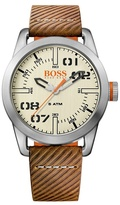 Boss Orange Gents Grey Strap Watch 1513418