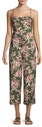 French Connection Floral Cut-Out Back Jumpsuit