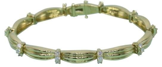 Tiffany & Co. 18K Yellow Gold 1.65ct. Diamond Station Bracelet