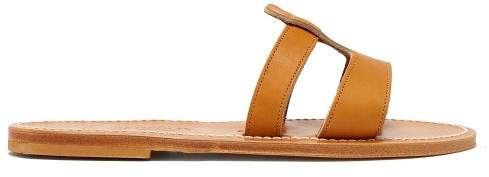 b3f2335a1 Tan Leather Slide - ShopStyle