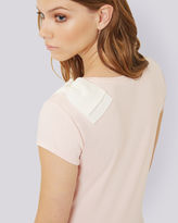 TULINE Oversized bow Tshirt