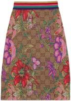 Gucci GG Flora wool jacquard skirt