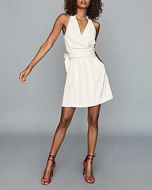 Reiss Beth Mini Wrap Dress