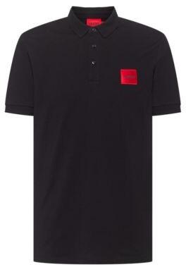 HUGO BOSS Slim Fit Cotton Piqu Polo Shirt With Logo Patch - Black