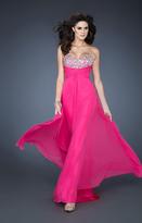 La Femme Gigi GiGi - 18786 Crystal Ruched Chiffon Gown
