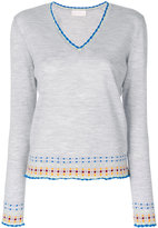 Peter Pilotto v-neck embroidered sweater