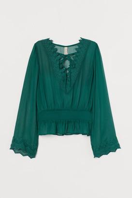 H&M Lacing-detail blouse