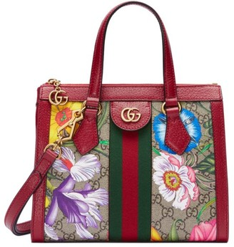 Gucci Ophidia GG Flora Small Tote Bag