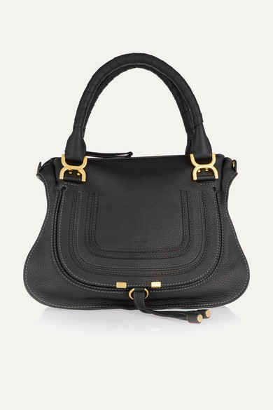 Chloé The Marcie Medium Textured-leather Tote - Black
