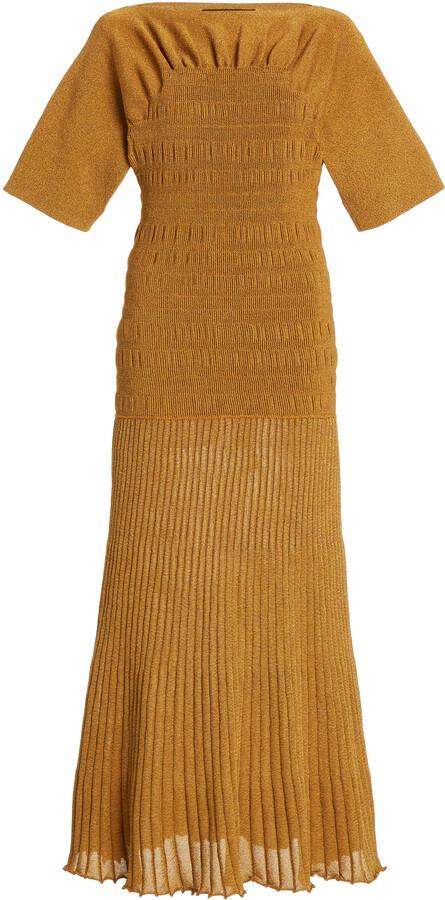 Thumbnail for your product : Proenza Schouler Women's Smocked Knit Midi Dress - Yellow - Moda Operandi