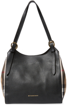 Burberry Small Canter Leather & House Check Tote