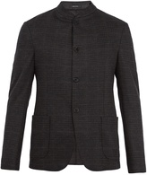 Giorgio Armani Single-breasted checked wool blazer