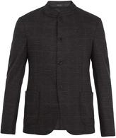 Giorgio Armani Single-breasted checked wool blazer