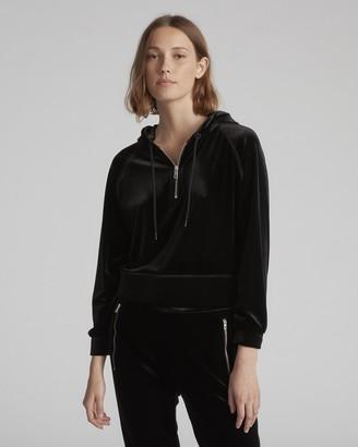 Rag & Bone Velvet cropped hoodie