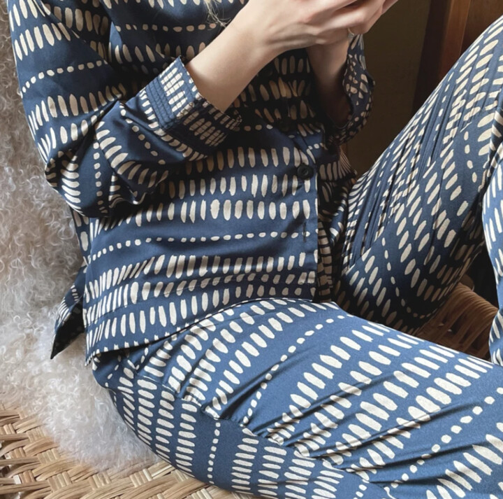 Thumbnail for your product : Margaux Imperial Navy Pyjamas - MED