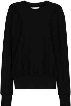 LES TIEN Crew-Neck Long-Sleeve Sweatshirt