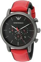 Giorgio Armani Emporio Luigi AR1971 Men's Gunmetal IP Stainless Steel Chronograph Watch
