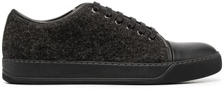 Lanvin Contrast Toe Lace-Up Sneakers