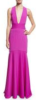 Milly Sleeveless Crisscross-Back Mermaid Gown
