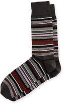 Neiman Marcus Jaspe-Stripe Socks