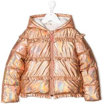 Billieblush ruffle trimming puffer jacket
