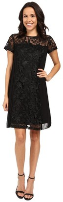 Adrianna Papell Women's Lace Shift Dress W Pleated Panels