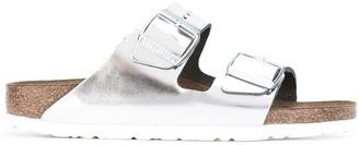 Birkenstock Metallic Buckled Sliders