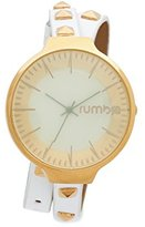 RumbaTime Women's 'Orchard Double Wrap' Quartz Metal Casual Watch, Color:White (Model: 26528)