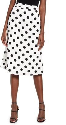 ENGLISH FACTORY Polka Dot Midi Skirt
