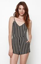 Lucca Couture Sela Stripe Fitted Romper