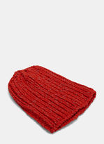 Men's Reflective Knit Beanie Hat In Red €115