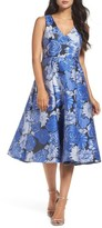 Adrianna Papell Women's Jacquard Fit & Flare Dress