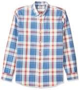 Goodthreads Men's Standard-Fit Long-Sleeve Plaid Chambray Shirt