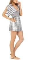 Trina Turk Striped Split-Sleeve Cover-Up Tunic Women's Swimsuit