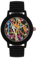 Betsey Johnson Betseys Boxed Rubberized Graffiti Watch
