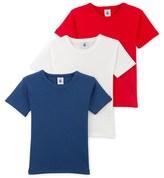 Petit Bateau Set of three boys T-shirts