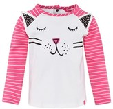 Joules Pink and Cream Cat Face Tee
