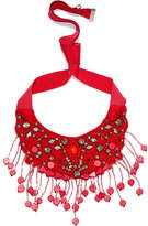 Etro Grosgrain And Bead Necklace - Red